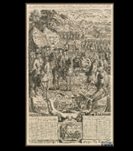 Almanac from 1720 that commemorates the victories of the Duke of Berwik in Spain